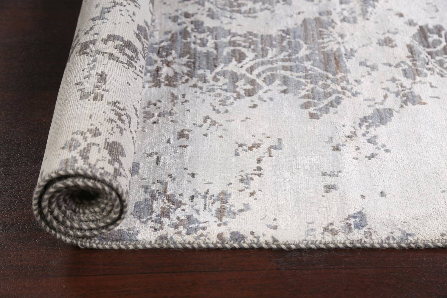 All-Over Distressed Art & Craft Oriental Area Rug 5x7 image 14
