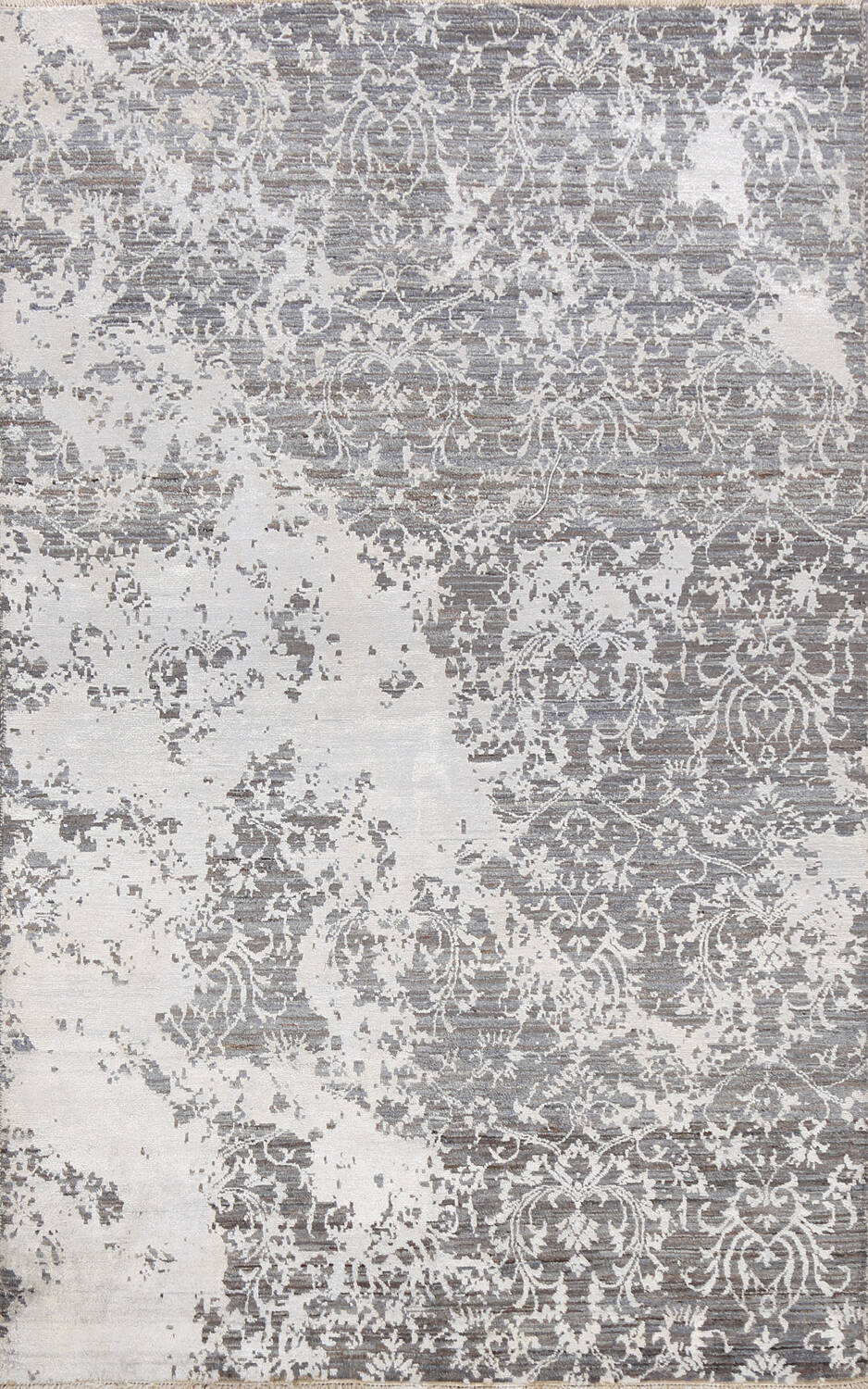 All-Over Distressed Art & Craft Oriental Area Rug 5x7 image 1
