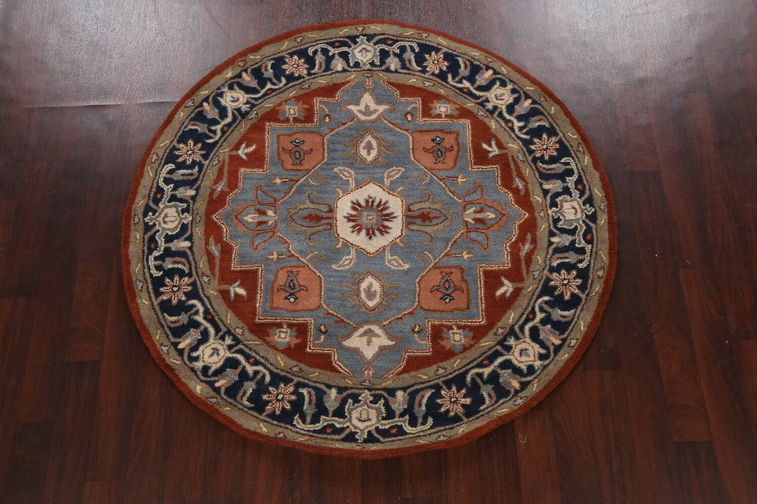 Floral Round Rug 6x6 image 10