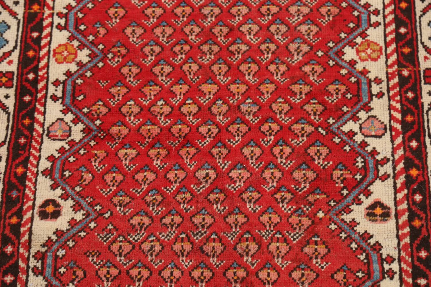 Red Boteh Botemir Persian Area Rug 3x5 image 4