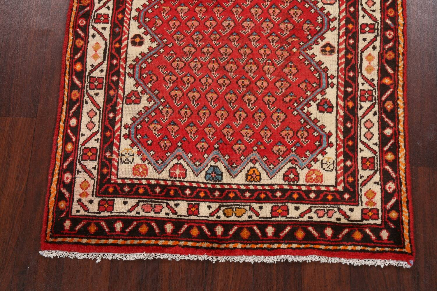 Red Boteh Botemir Persian Area Rug 3x5 image 8
