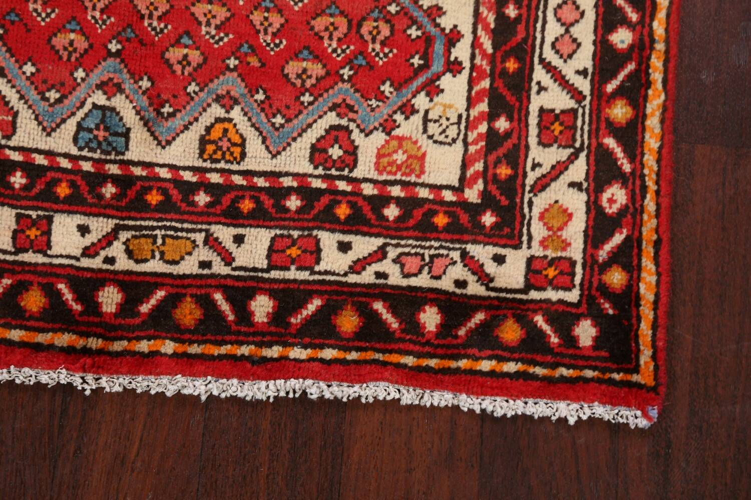 Red Boteh Botemir Persian Area Rug 3x5 image 5