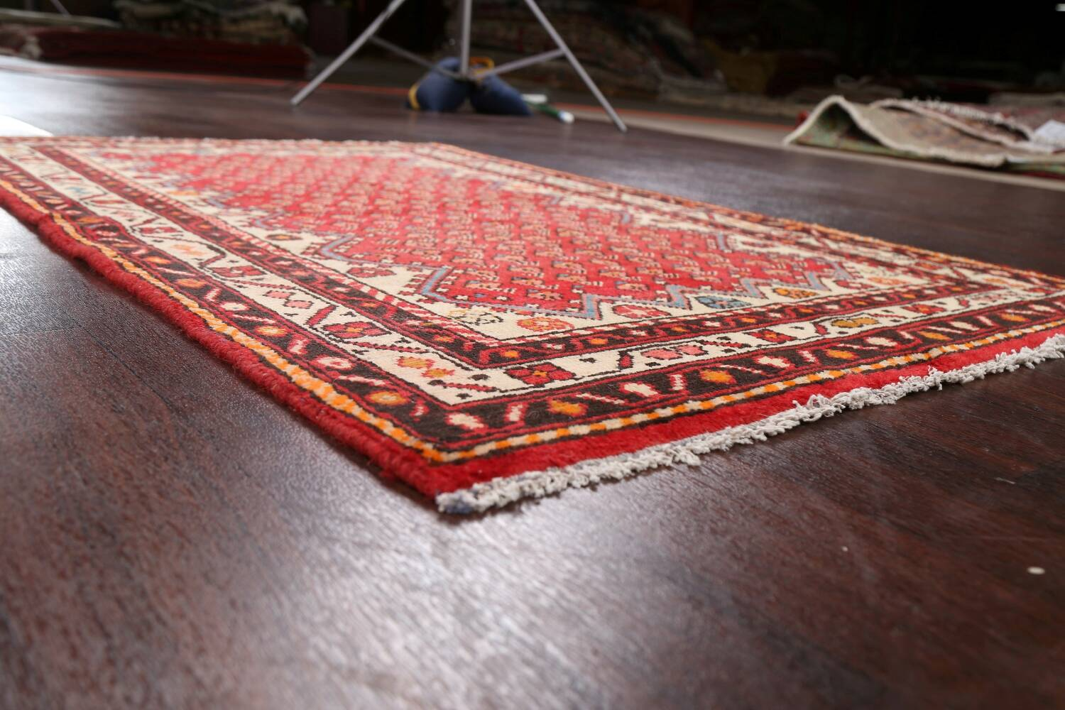 Red Boteh Botemir Persian Area Rug 3x5 image 6