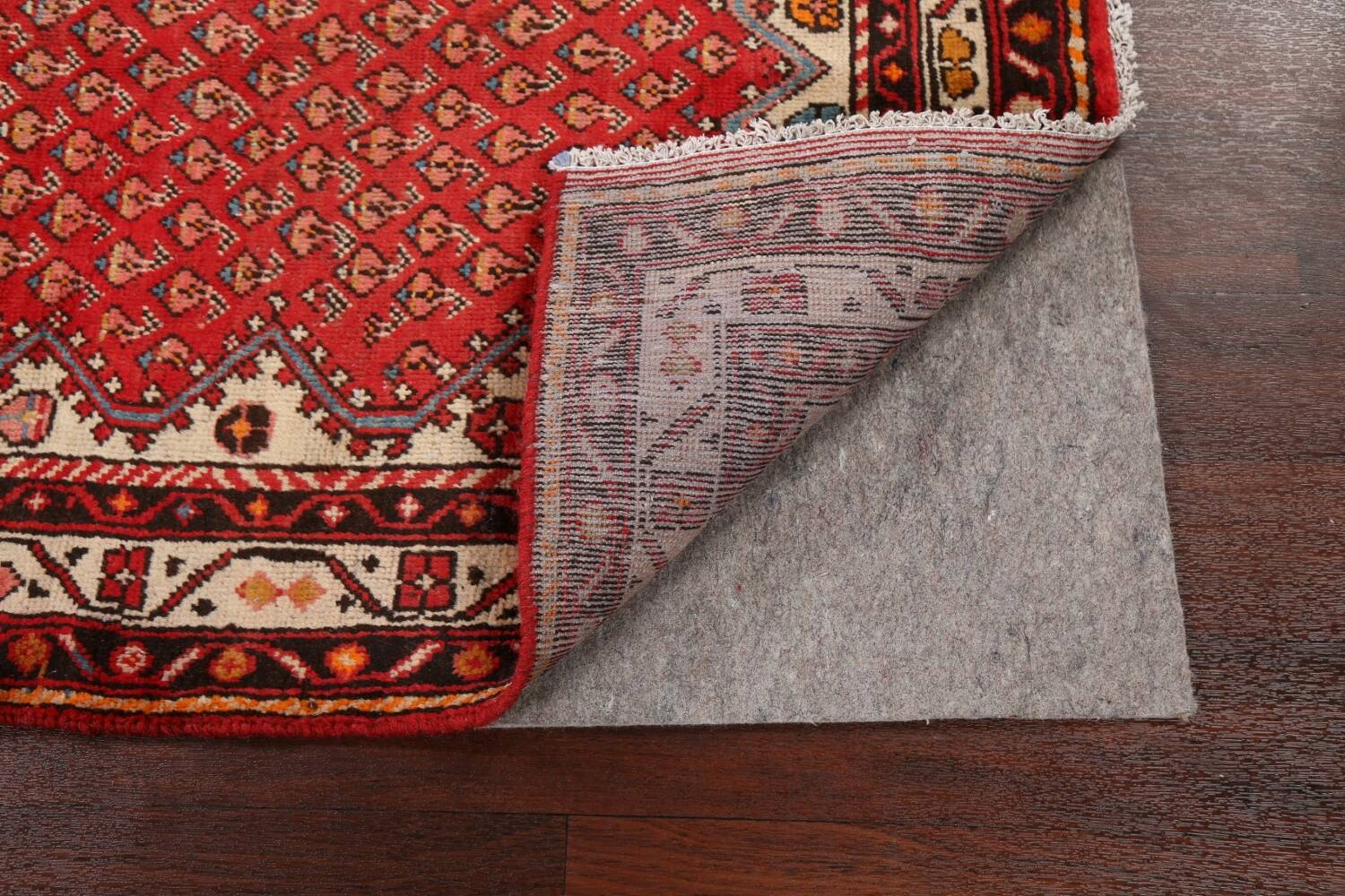 Red Boteh Botemir Persian Area Rug 3x5 image 7