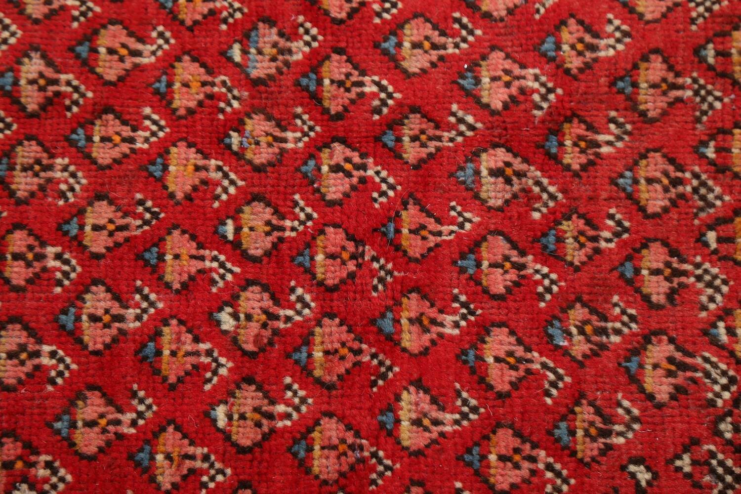 Red Boteh Botemir Persian Area Rug 3x5 image 9