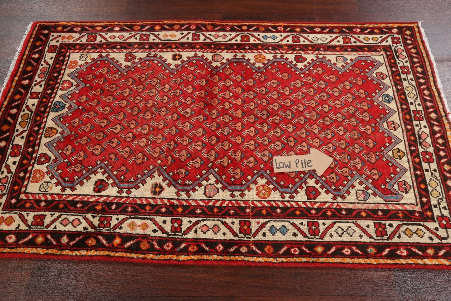 Red Boteh Botemir Persian Area Rug 3x5 image 12