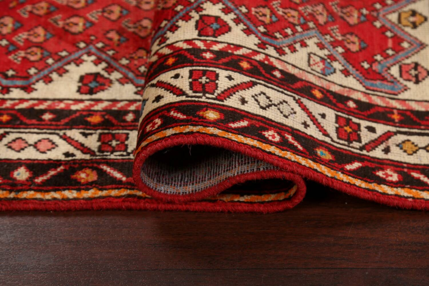 Red Boteh Botemir Persian Area Rug 3x5 image 13