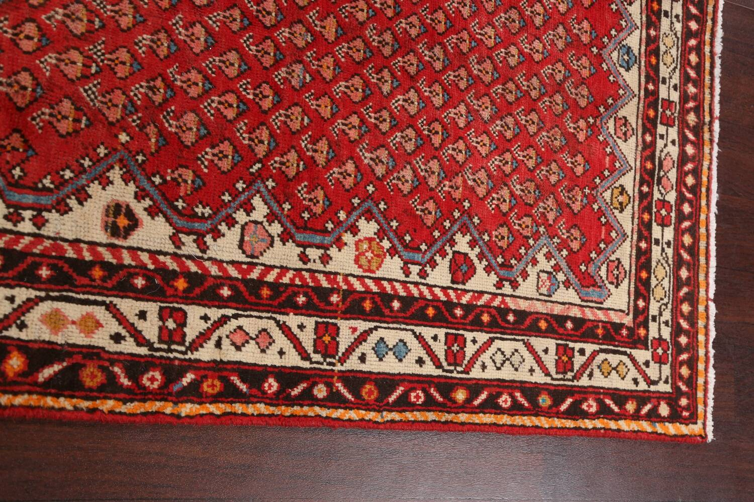 Red Boteh Botemir Persian Area Rug 3x5 image 14