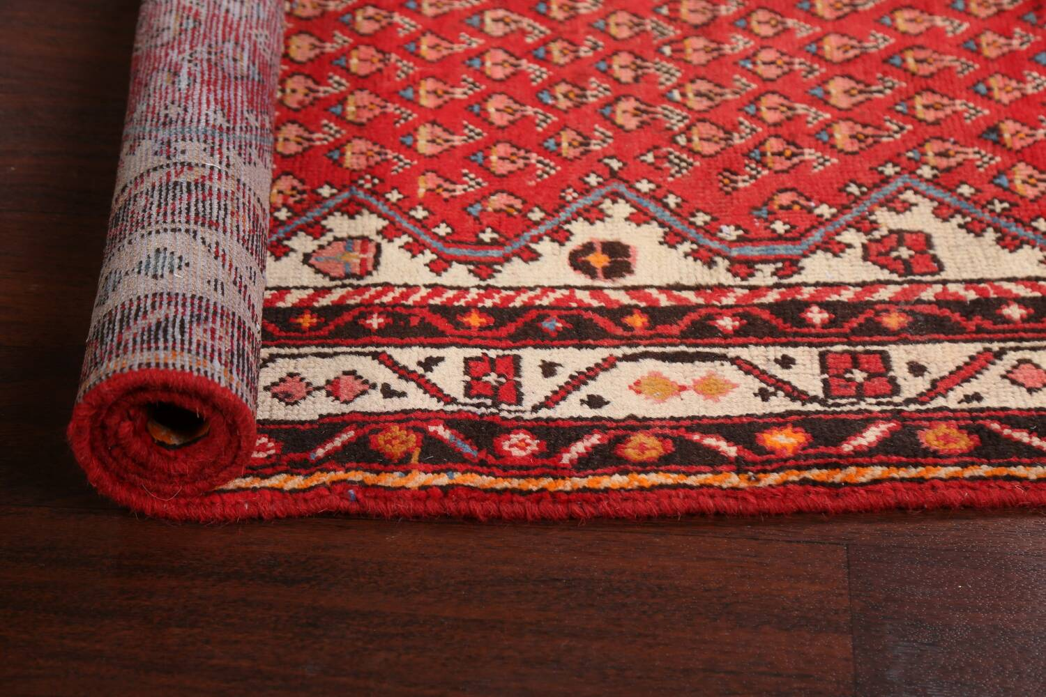 Red Boteh Botemir Persian Area Rug 3x5 image 17