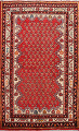Red Boteh Botemir Persian Area Rug 3x5 image 1