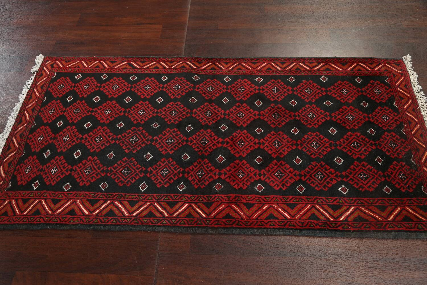 All-Over Geometric Balouch Oriental Area Rug 3x6 image 13