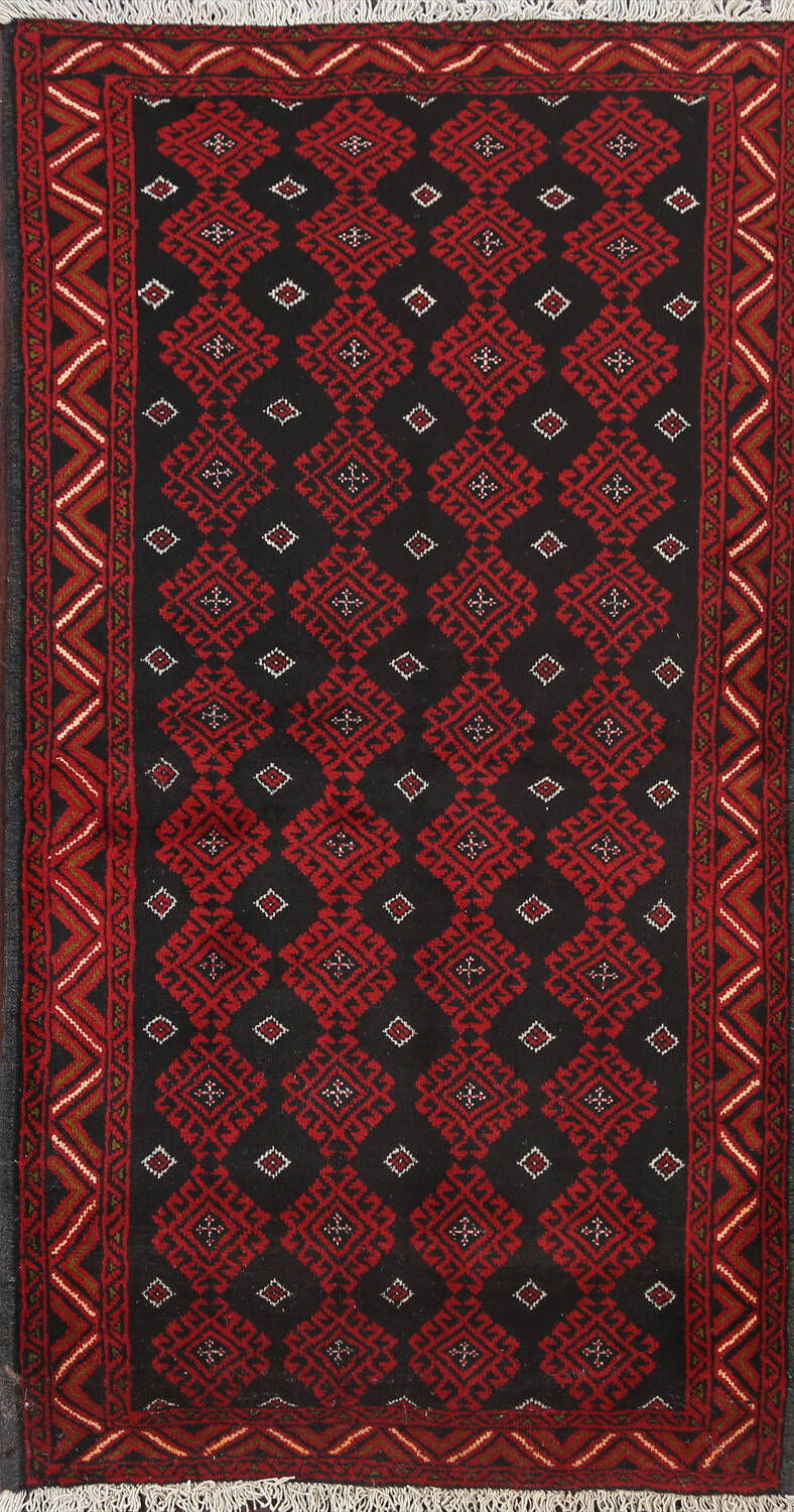 All-Over Geometric Balouch Oriental Area Rug 3x6 image 1