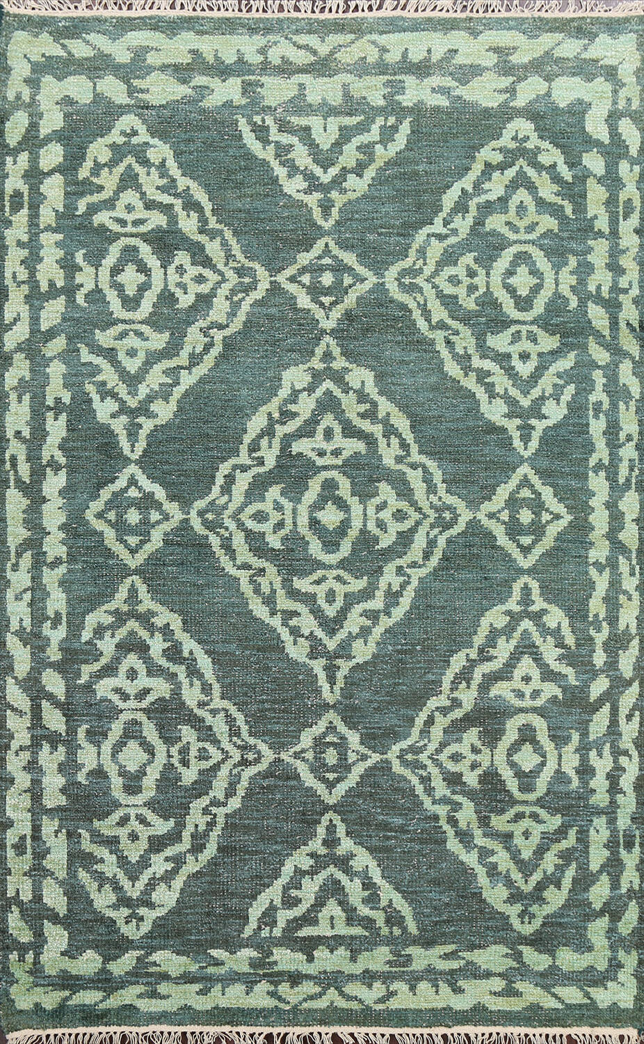 Contemporary Abstract Oriental Area Rug 4x7 image 1