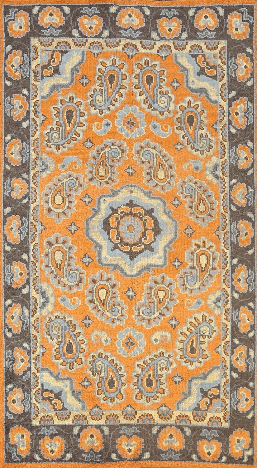 Paisley Abstract Oriental Area Rug 5x8 image 1