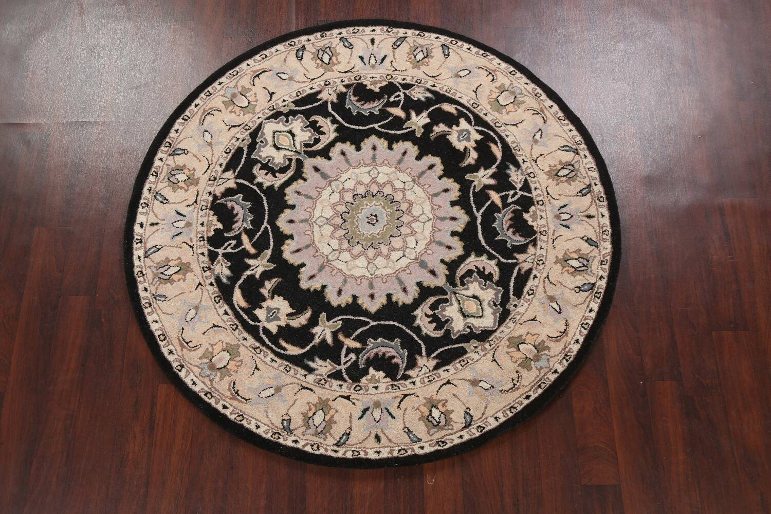 Floral Round Rug 6x6 image 2
