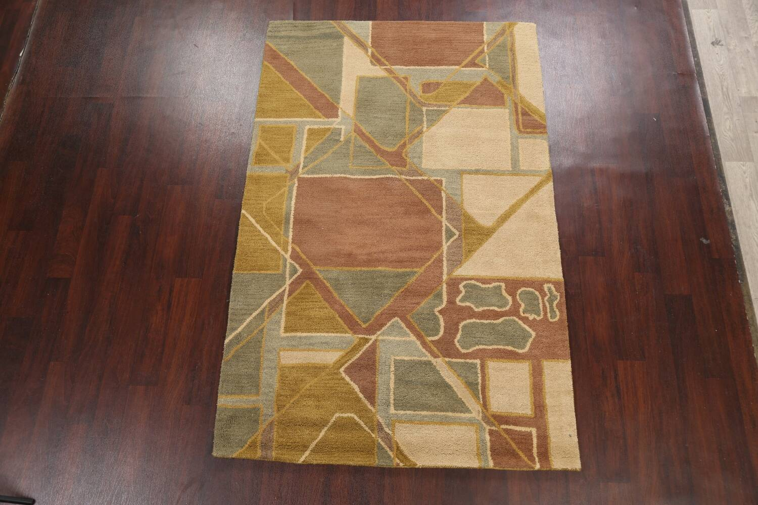 Contemporary Abstract Area Rug 5x8 image 2