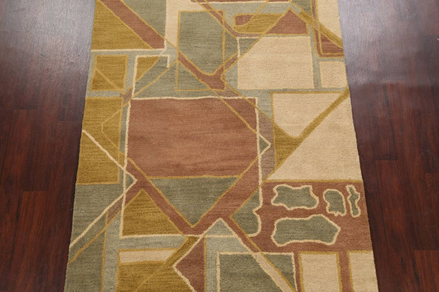 Contemporary Abstract Area Rug 5x8 image 3