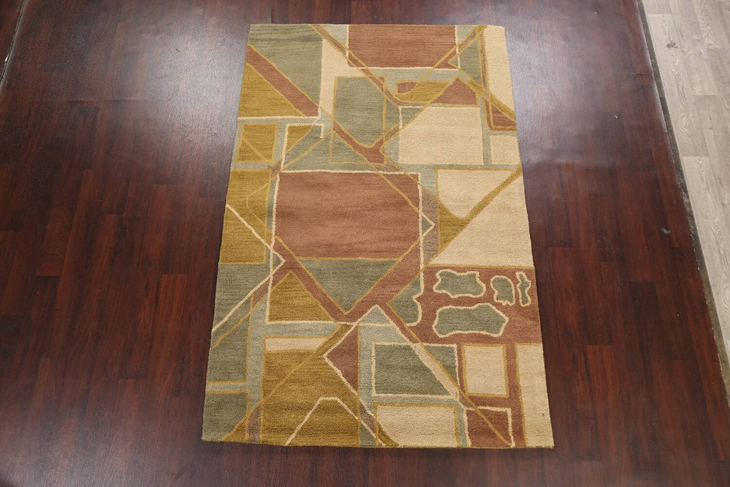 Contemporary Abstract Area Rug 5x8 image 12