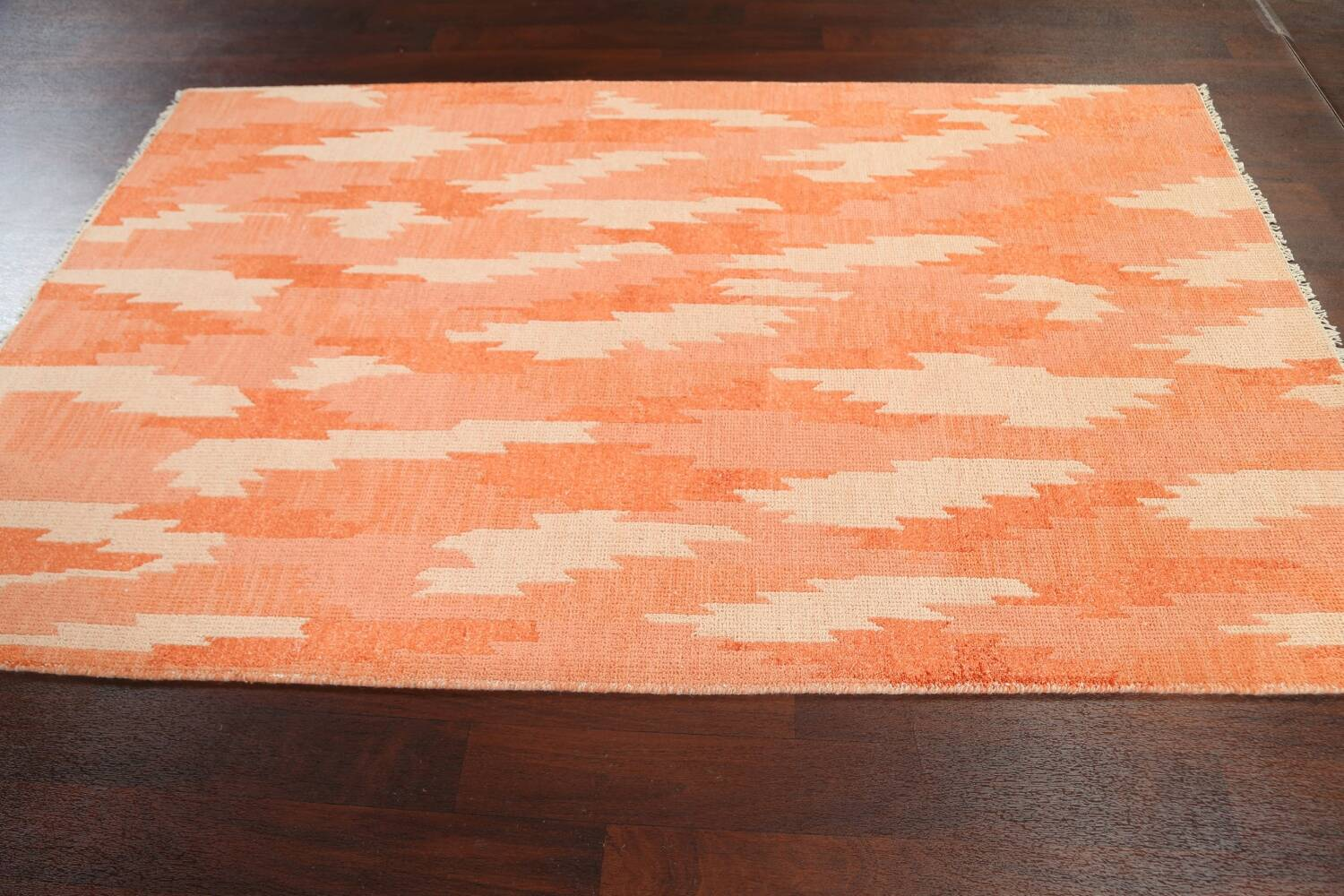 Contemporary Abstract Oriental Area Rug 5x8 image 12