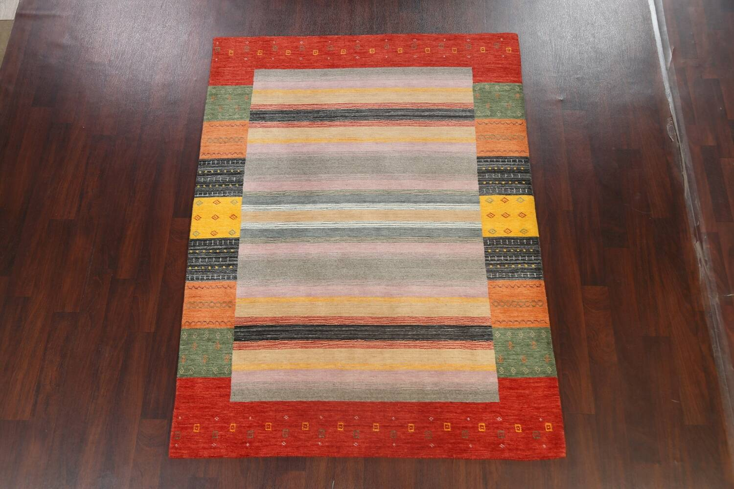Abstract Gabbeh Oriental Area Rug 6x8 image 2