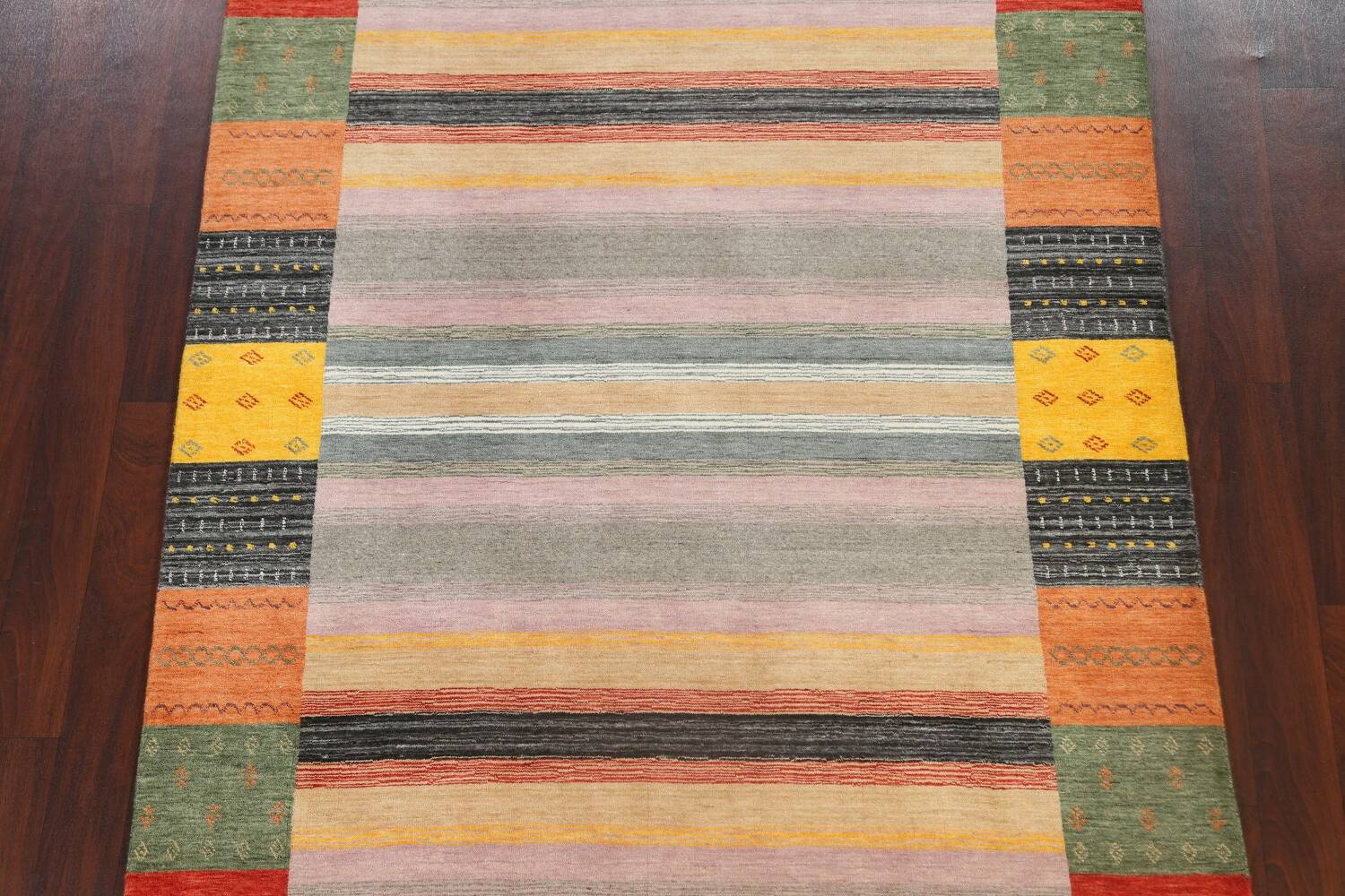 Abstract Gabbeh Oriental Area Rug 6x8 image 3
