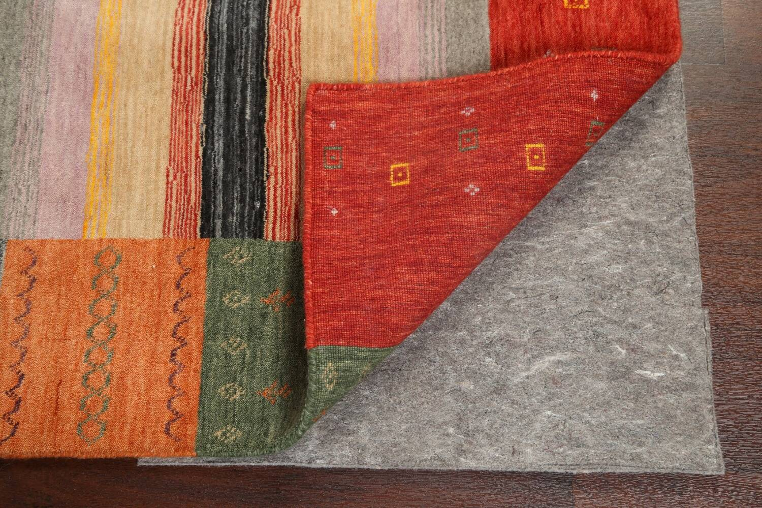Abstract Gabbeh Oriental Area Rug 6x8 image 6