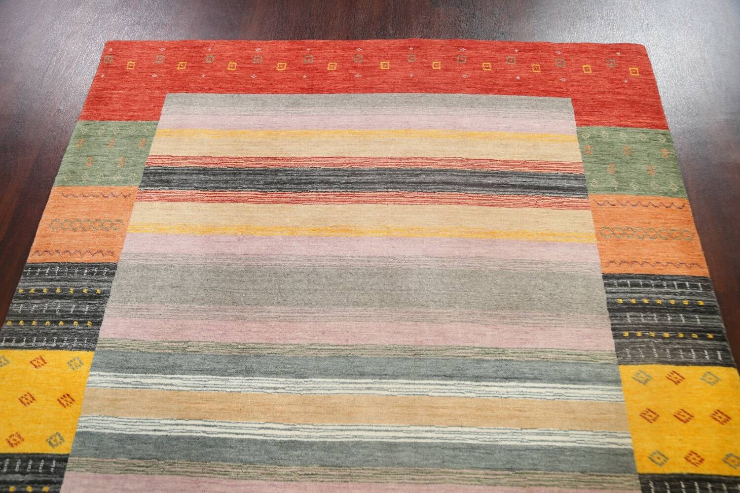 Abstract Gabbeh Oriental Area Rug 6x8 image 9