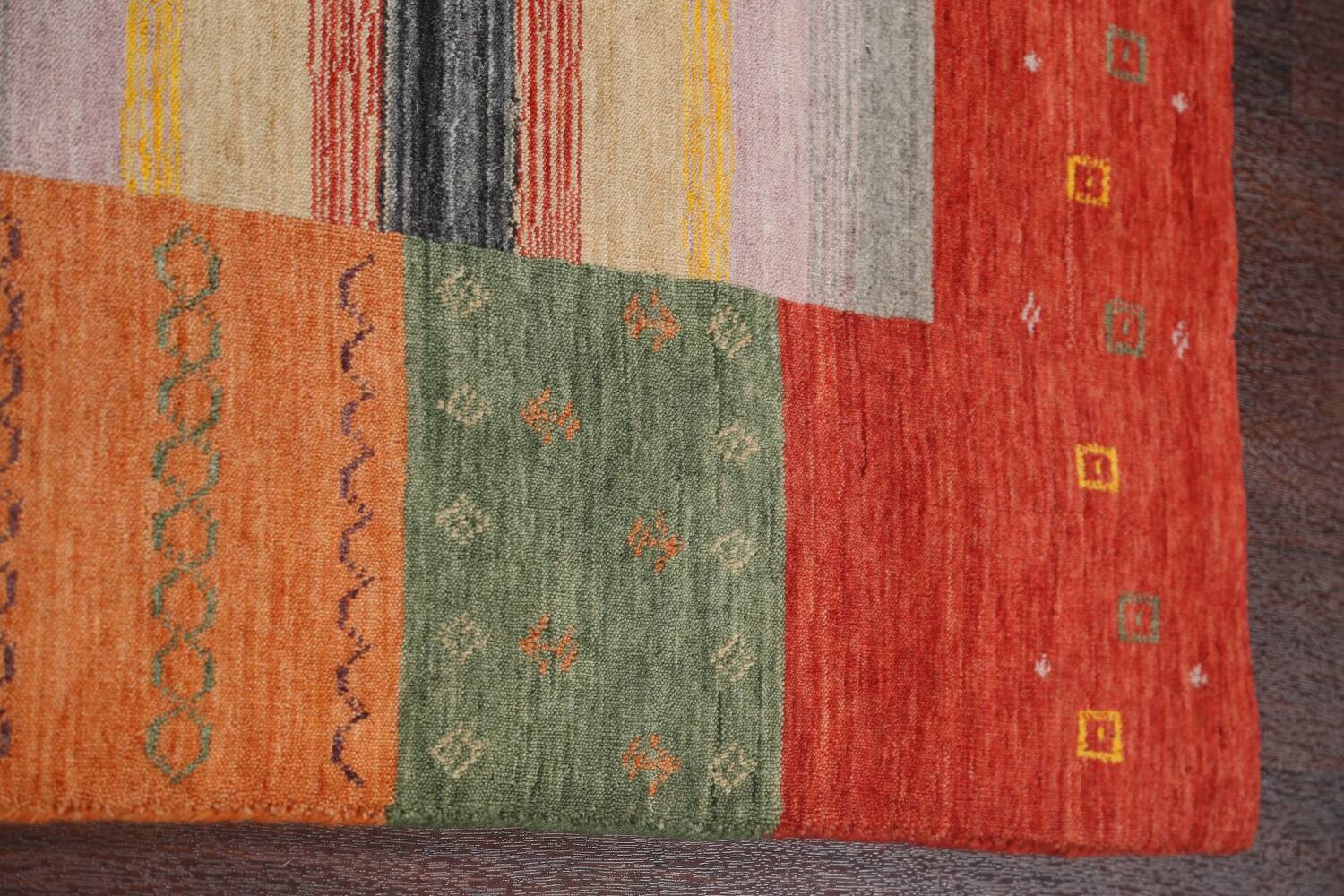 Abstract Gabbeh Oriental Area Rug 6x8 image 10