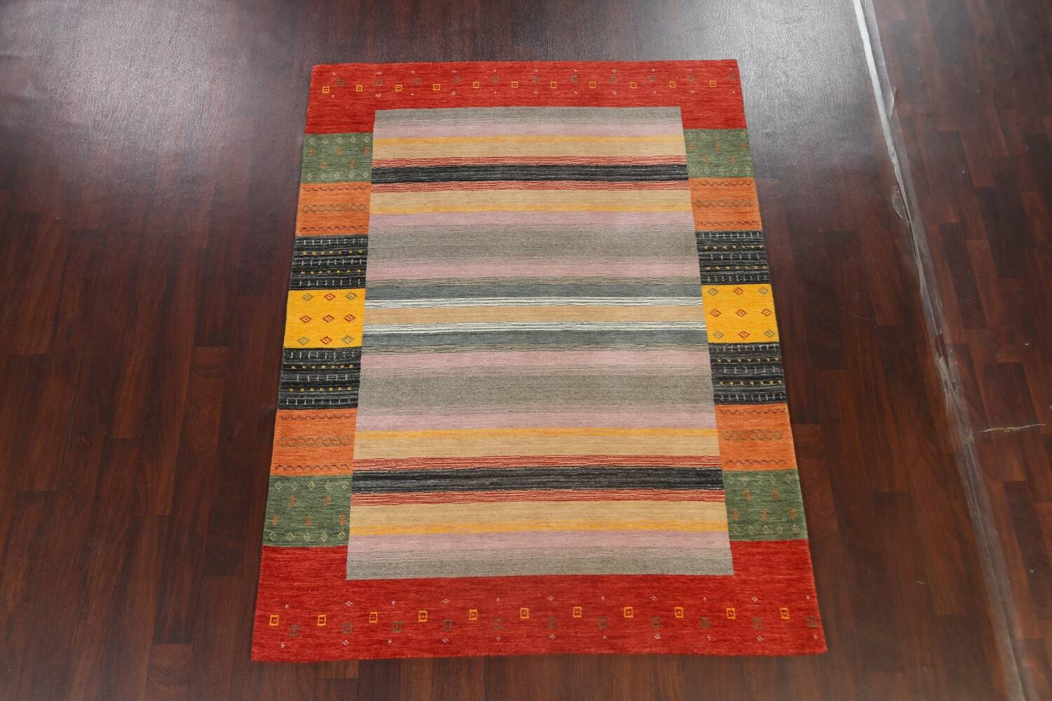 Abstract Gabbeh Oriental Area Rug 6x8 image 13