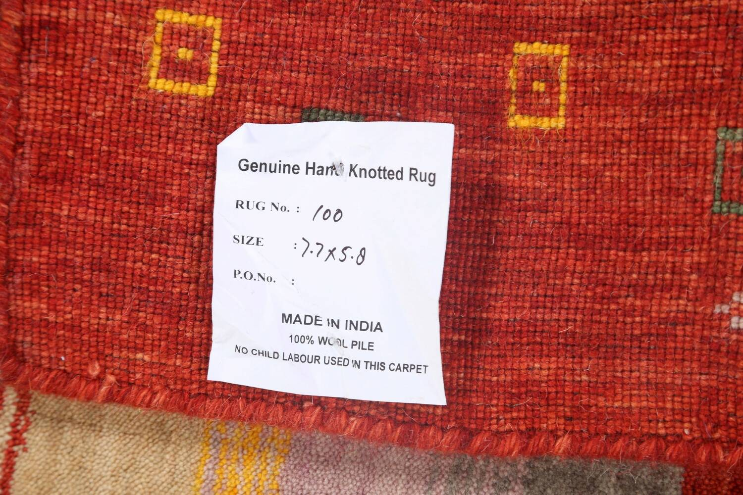 Abstract Gabbeh Oriental Area Rug 6x8 image 19
