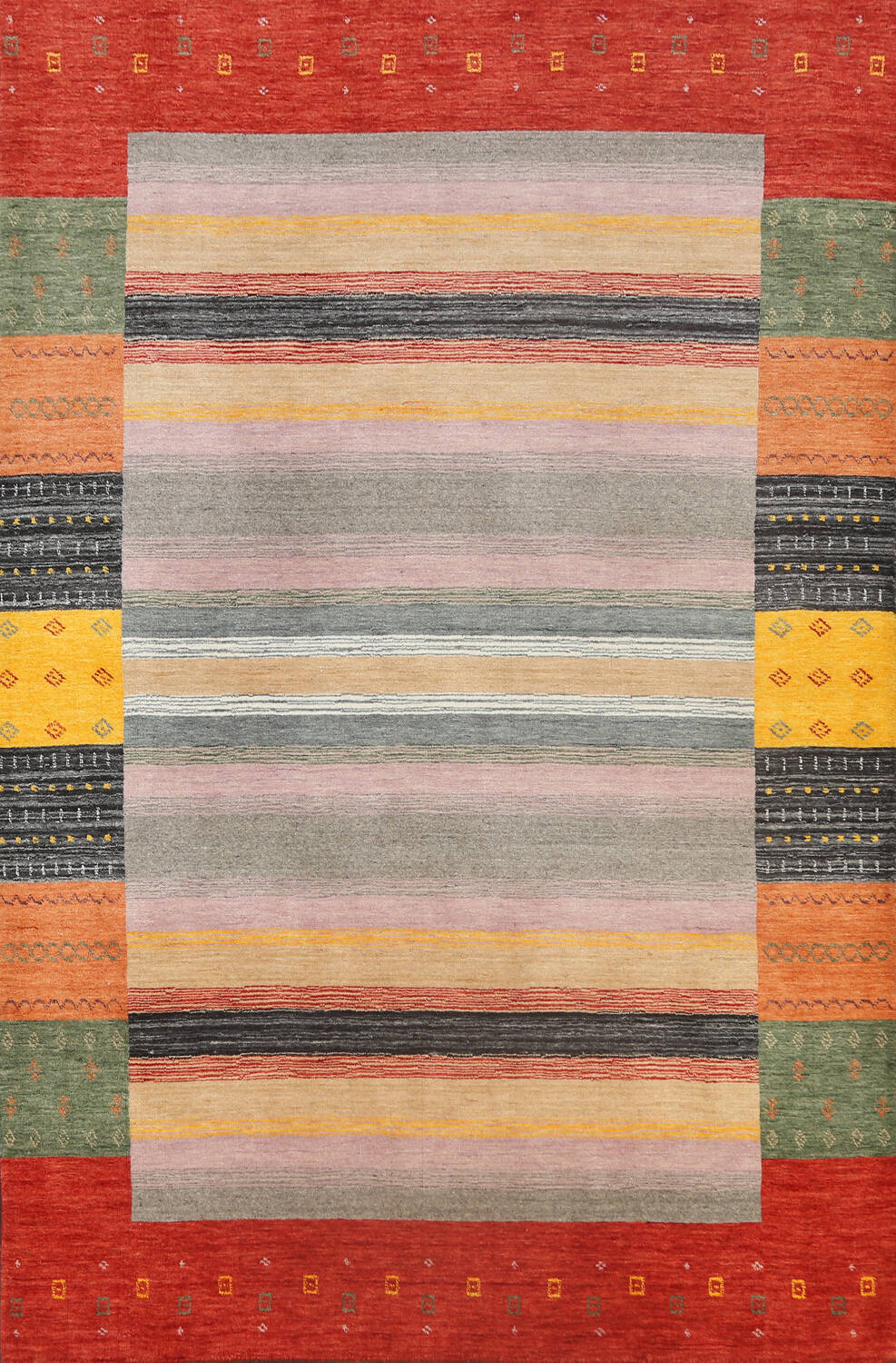 Abstract Gabbeh Oriental Area Rug 6x8 image 1