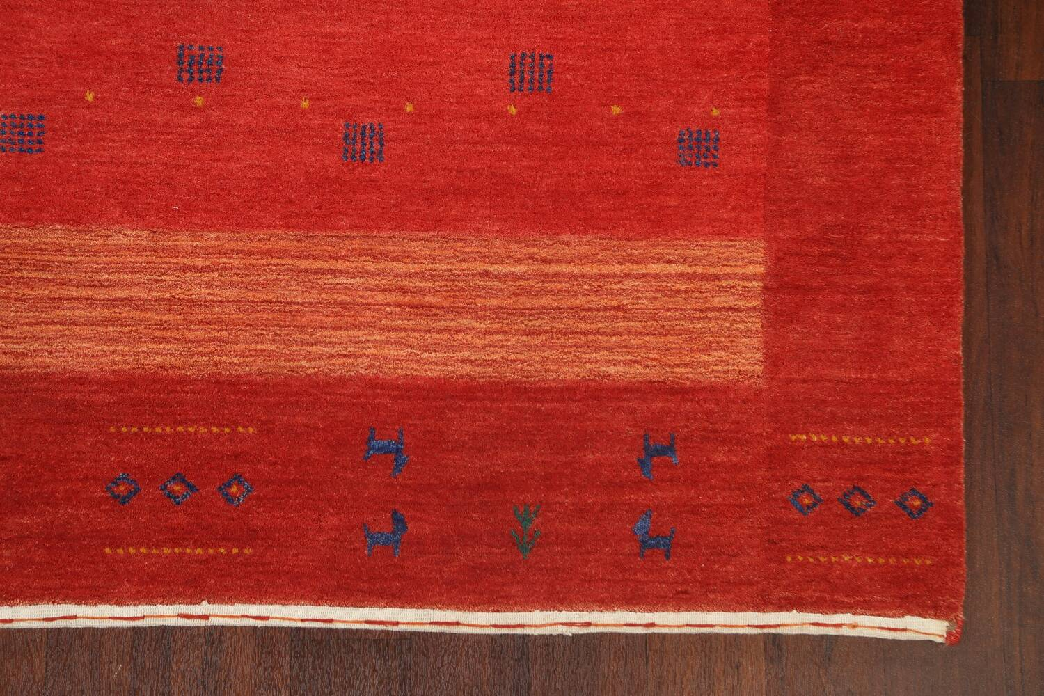 Abstract Gabbeh Oriental Area Rug 6x8 image 5