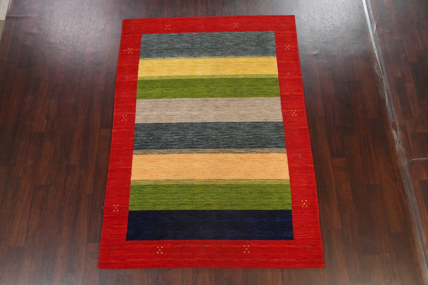 Abstract Contemporary Gabbeh Oriental Area Rug 6x8 image 2