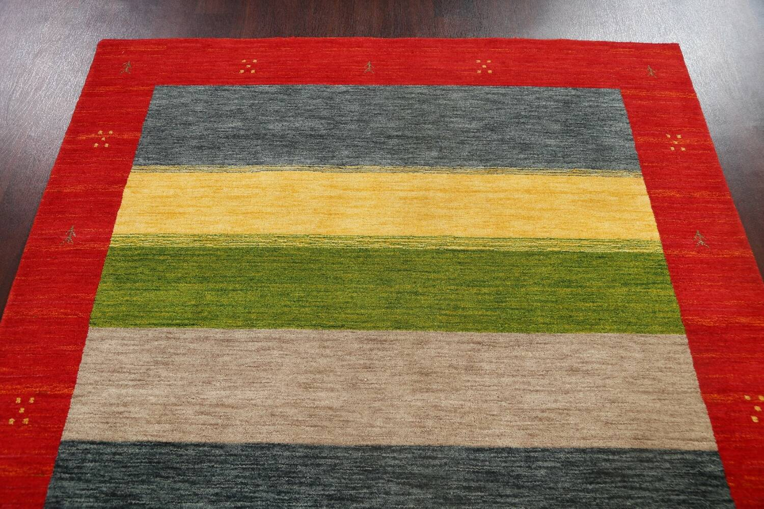 Abstract Contemporary Gabbeh Oriental Area Rug 6x8 image 9