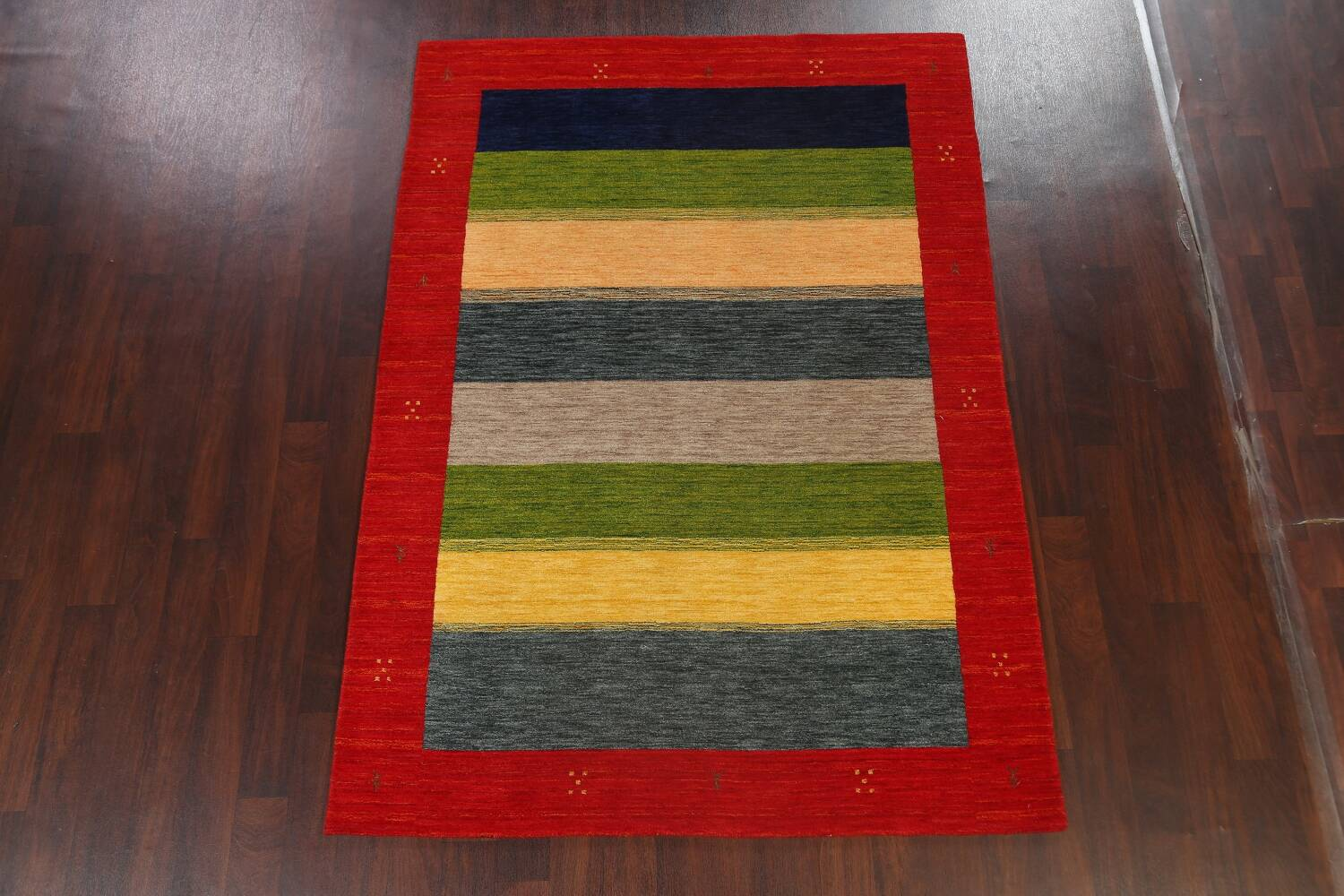 Abstract Contemporary Gabbeh Oriental Area Rug 6x8 image 13