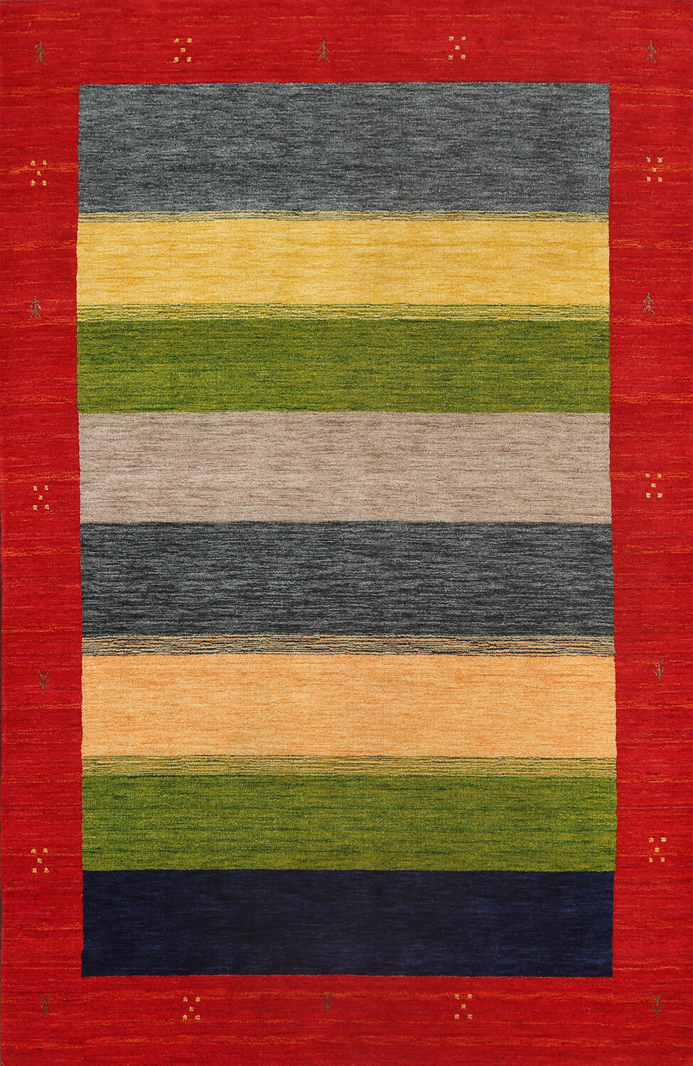 Abstract Contemporary Gabbeh Oriental Area Rug 6x8 image 1