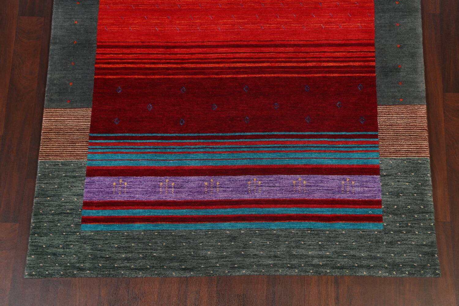 Abstract Contemporary Gabbeh Oriental Area Rug 6x8 image 8