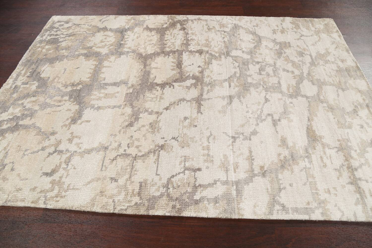 Contemporary Abstract Oriental Area Rug 5x7 image 12