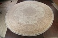 100% Vegetable Dye Floral Tabriz Persian Area Rug 22x23 Round image 2