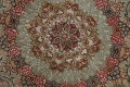 100% Vegetable Dye Floral Tabriz Persian Area Rug 22x23 Round image 11