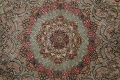 100% Vegetable Dye Floral Tabriz Persian Area Rug 22x23 Round image 16