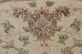 100% Vegetable Dye Floral Tabriz Persian Area Rug 22x23 Round image 20