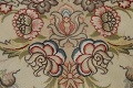 100% Vegetable Dye Floral Tabriz Persian Area Rug 22x23 Round image 21