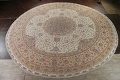 100% Vegetable Dye Floral Tabriz Persian Area Rug 22x23 Round image 22