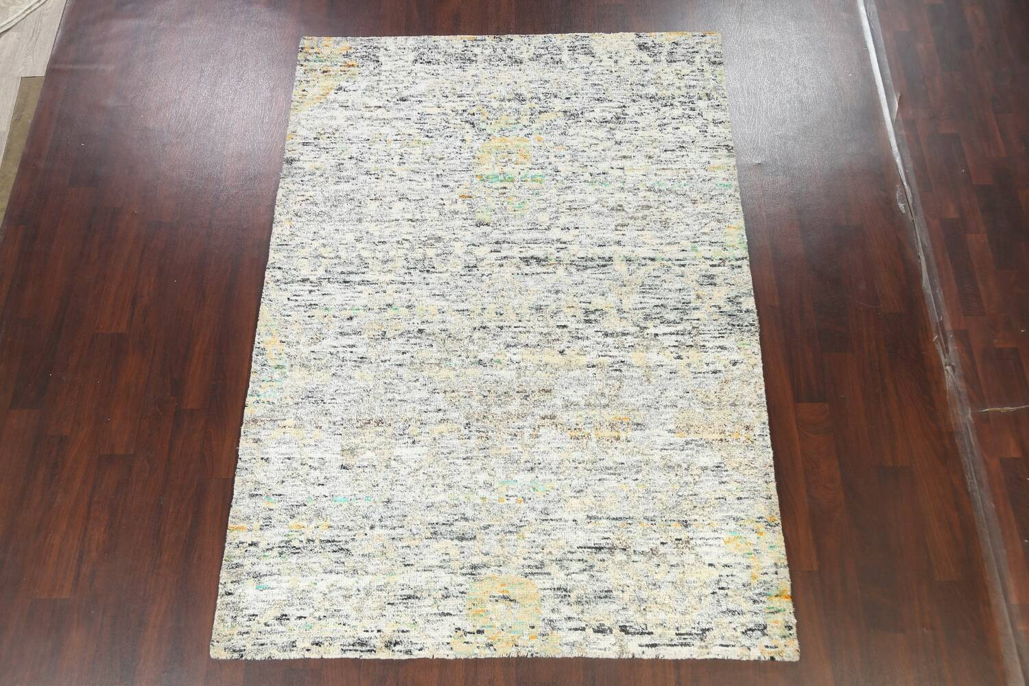 Contemporary Abstract Oriental Area Rug 6x9 image 2