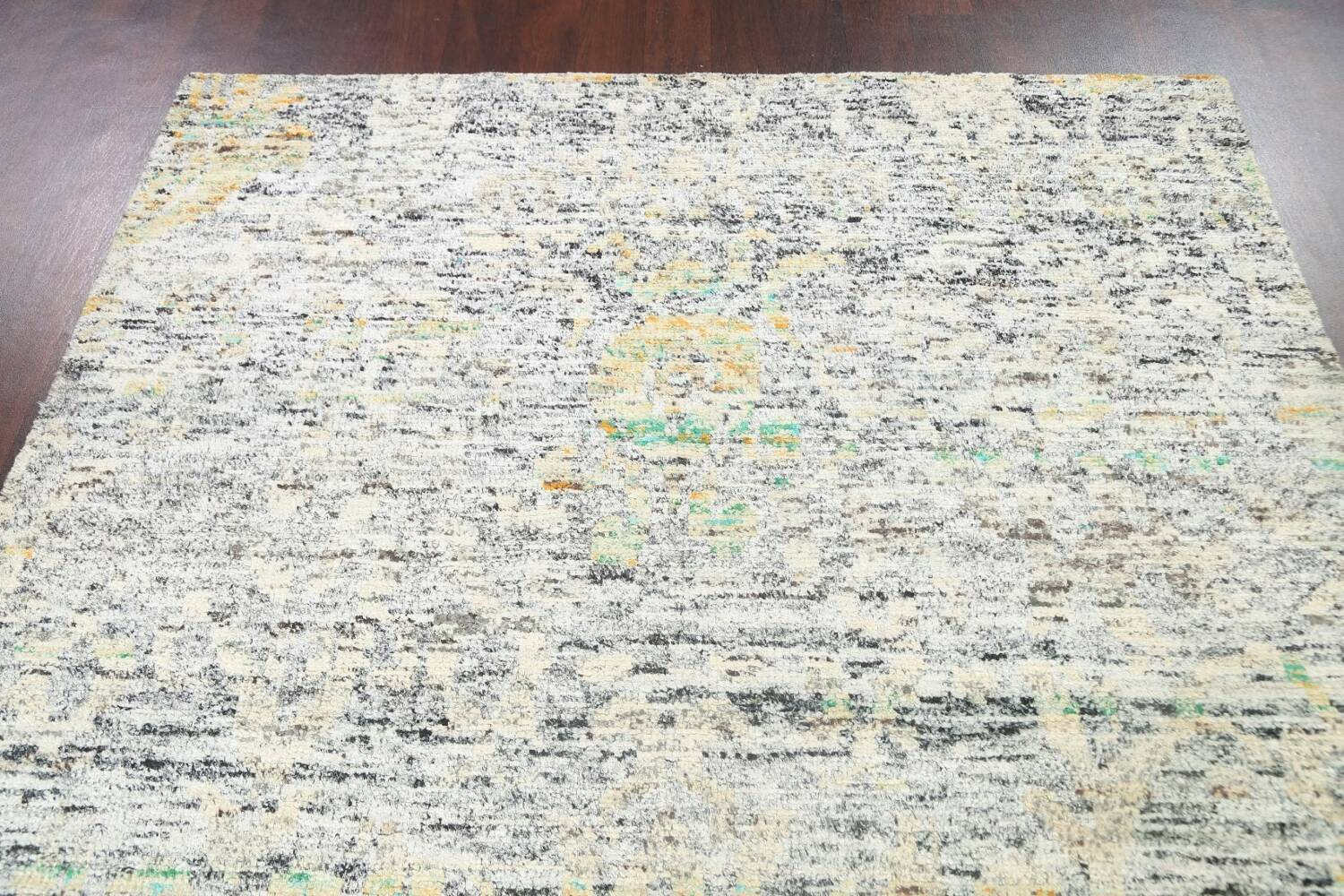 Contemporary Abstract Oriental Area Rug 6x9 image 9