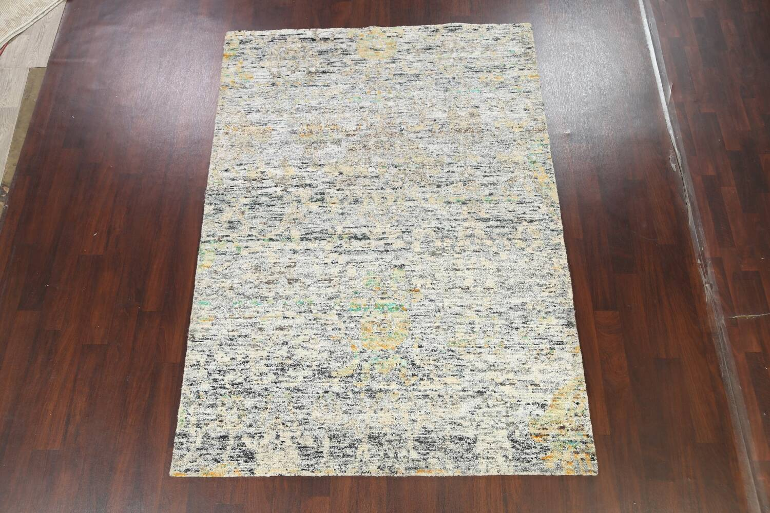 Contemporary Abstract Oriental Area Rug 6x9 image 13