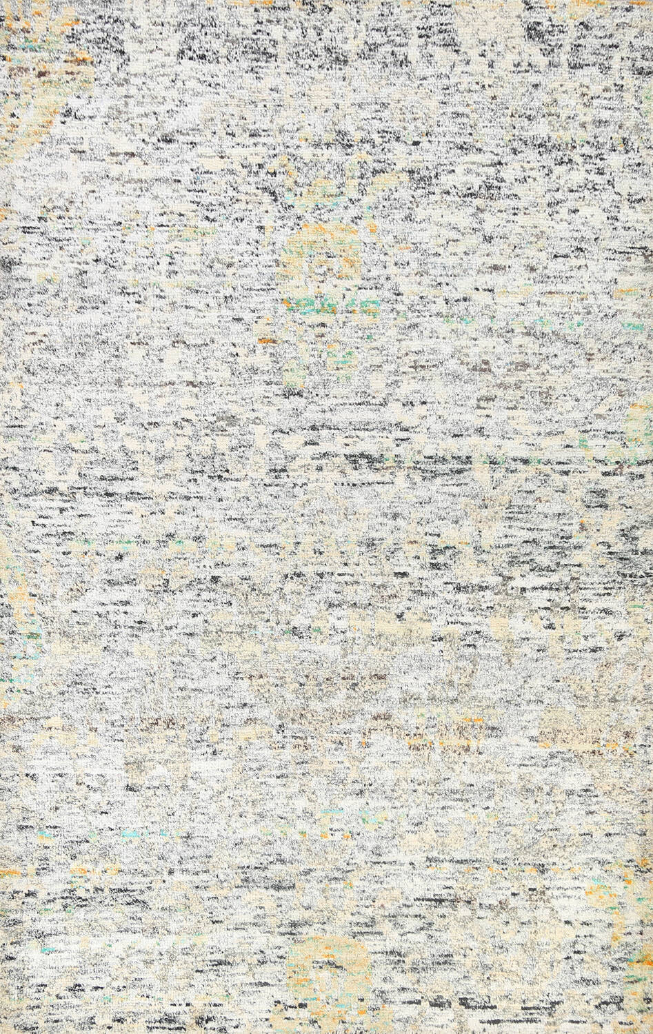 Contemporary Abstract Oriental Area Rug 6x9 image 1
