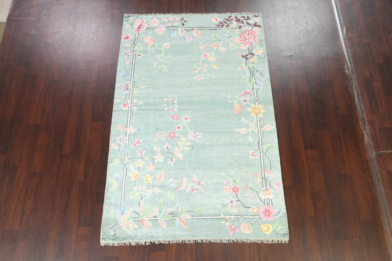 Floral Contemporary Abstract Oriental Area Rug 5x8 image 2