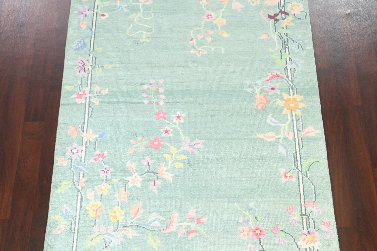 Floral Contemporary Abstract Oriental Area Rug 5x8 image 3